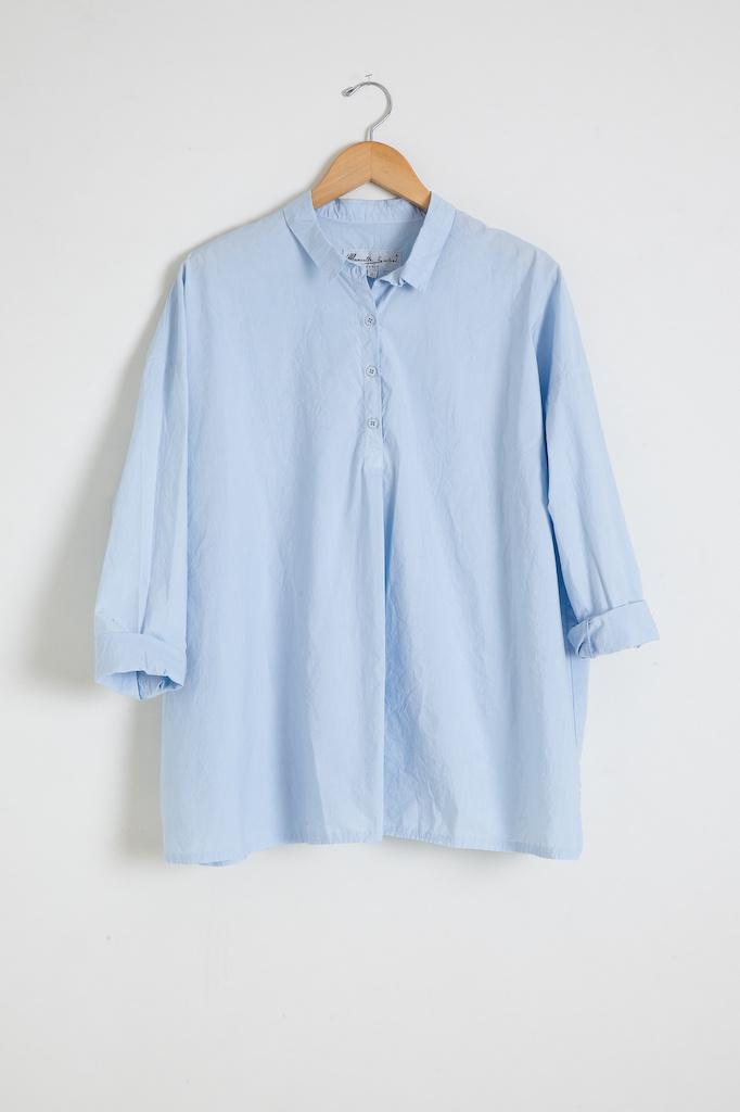 Manuelle Guibal 5811B Tino Uni Cotton Blouse - Size 1