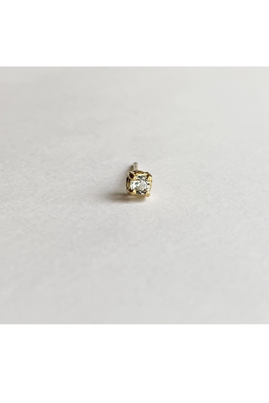 18kt Gold Solitaire Aquamarine Earrings