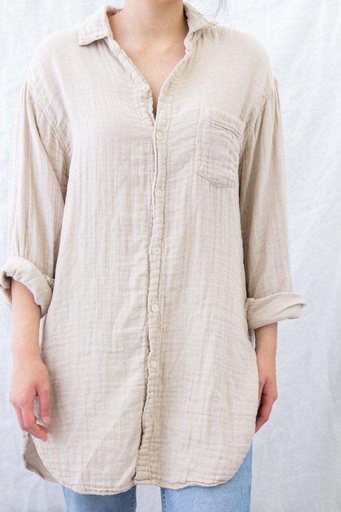 CP Shades Marella Tunic Length Cotton Gauze Shirt - size M