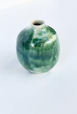 Alice Cheng Studio Porcelain Green Oxide Small Vase