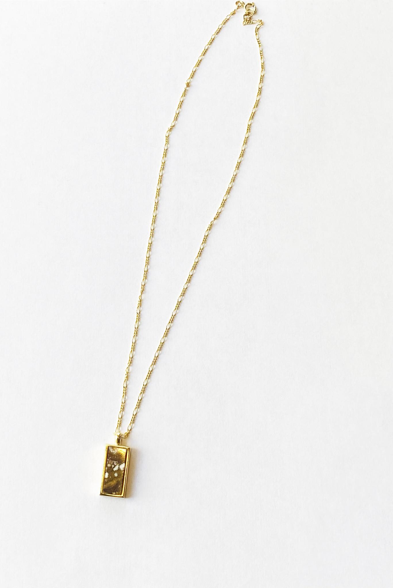 Sarah Safavi Jewelry Token Necklace in Wild Horse Magnesite