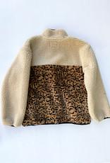 Saga Fleece Pullover Cream Leopard Mix