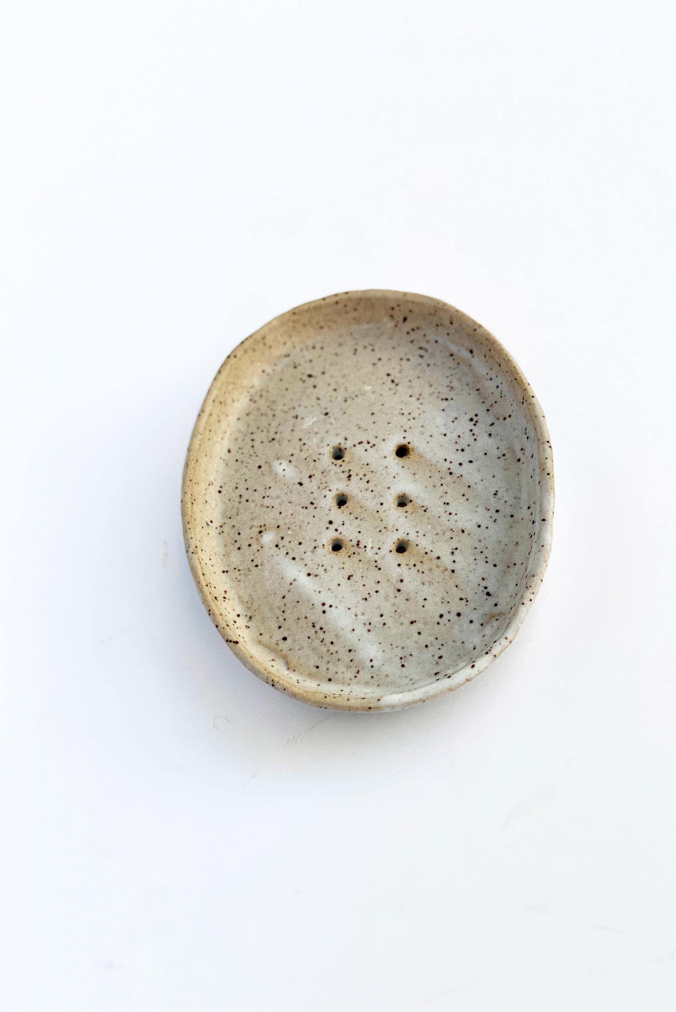 Alice Cheng Studio Neutral Speckled Soap Dishes