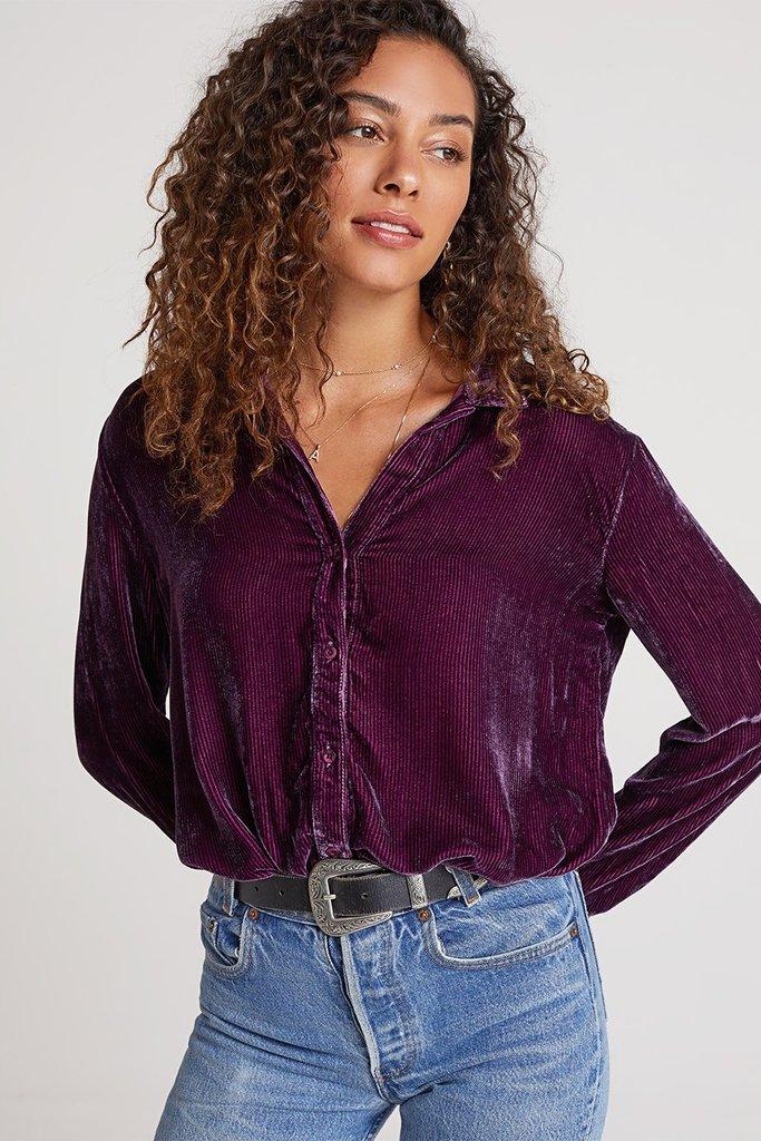 Bella Dahl Round Yoke Shirt - size XS