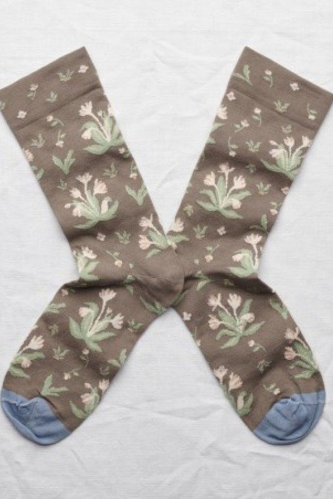 Bonne Maison Bouquet Socks Taupe