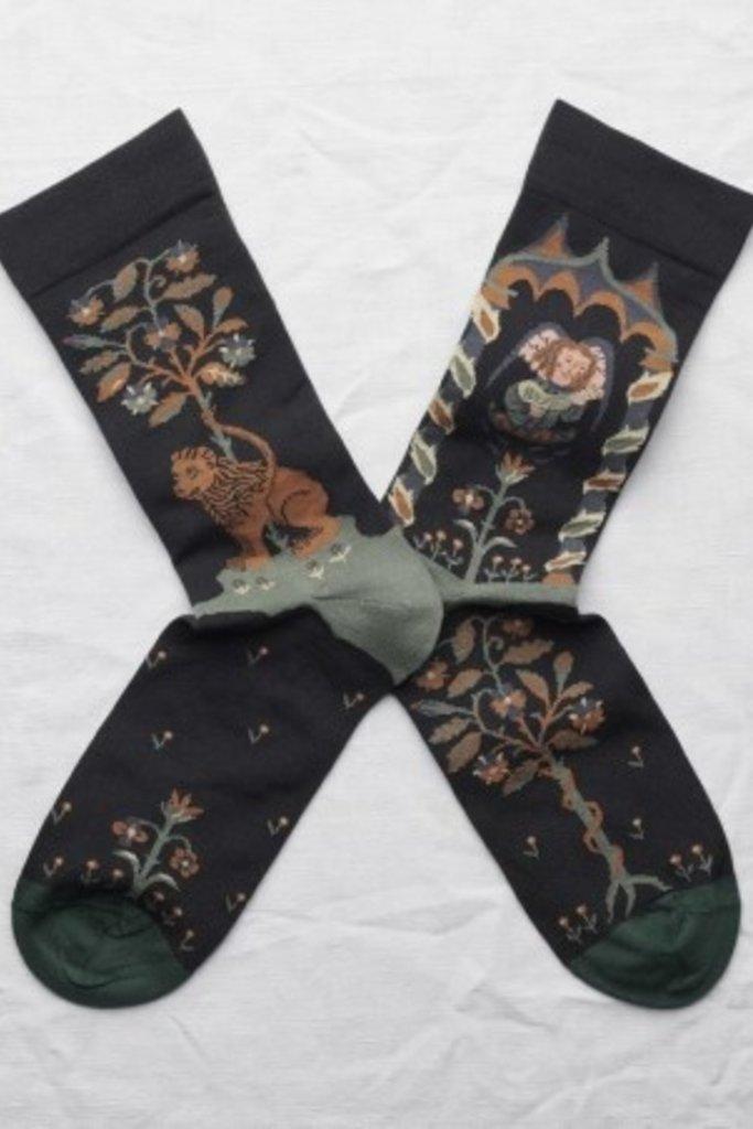 Bonne Maison Ange Socks Noir - Size 36/38