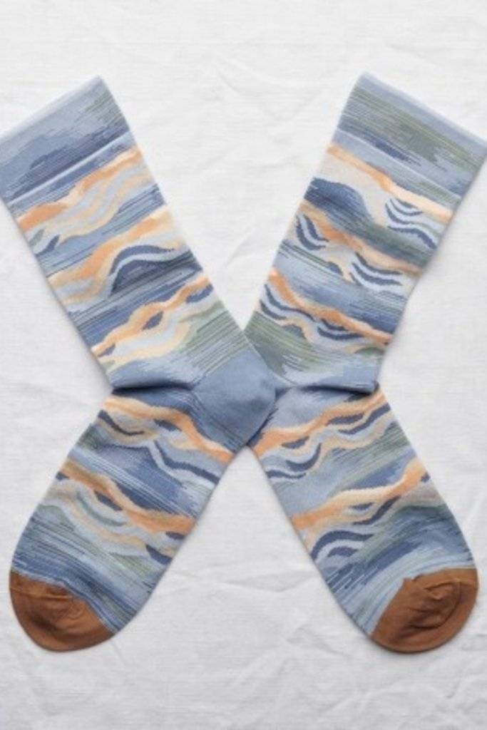 Bonne Maison Wave Socks in Storm