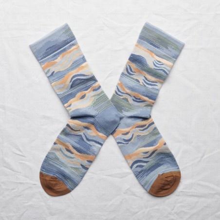 Wave Socks in Storm