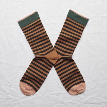 Bonne Maison Caramel Striped Socks