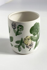 Alice Cheng Studio Large White Floral Cups