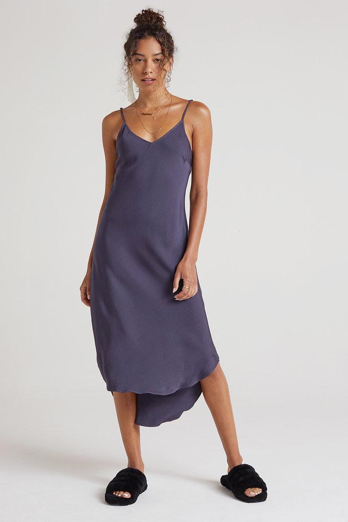 Bias Slip Dress in Graphite Viscose