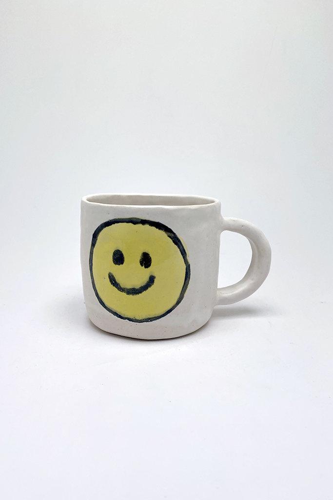 Alice Cheng Studio Extra Large Yellow Smiley Face Mug