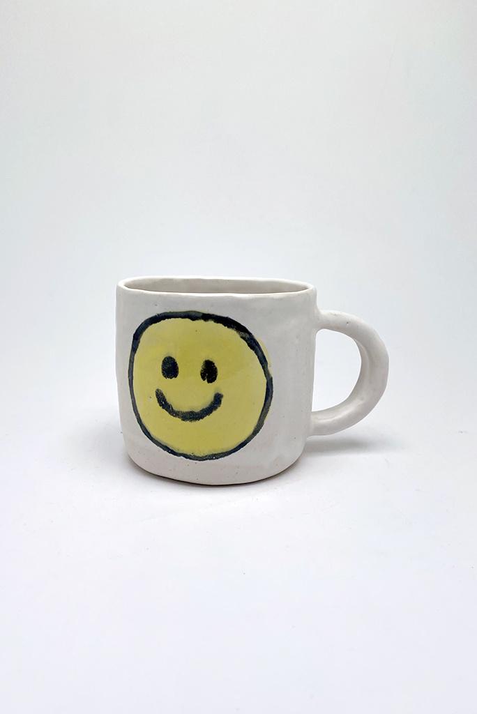 Alice Cheng Studio Large Yellow Smiley Face Mug