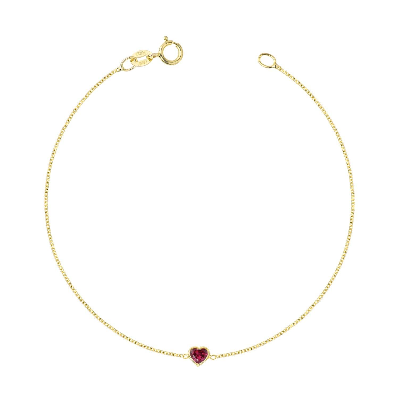 Hortense Je T'aime Ruby Bracelet 14kt Yellow Gold