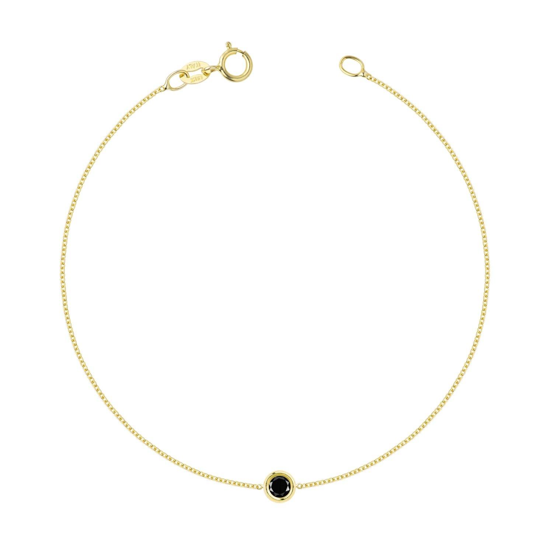 Hortense Flirty Black Diamond Bracelet 14kt Yellow Gold