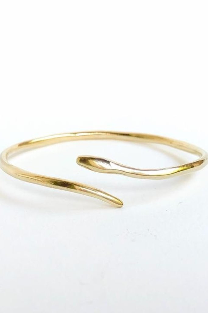 Serpent Brass Cuff