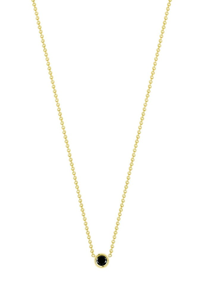 Hortense Flirty Black Diamond Necklace 14kt Yellow Gold