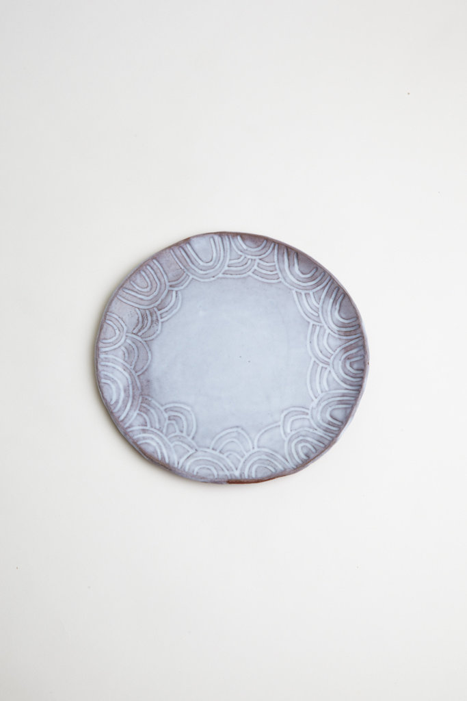 Alice Cheng Studio Round Carved Plate