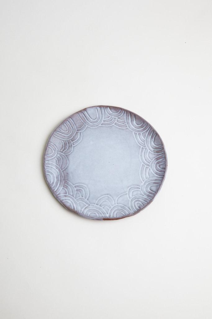 Alice Cheng Studio Round Carved Platter