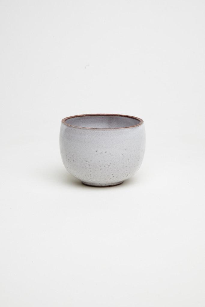 Alice Cheng Studio Small White Glaze Brown Bowls