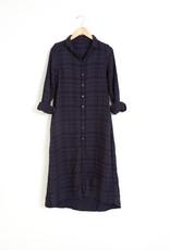 Maxi Plaid Cotton Dress