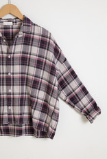 Ramona Cropped Button Down Plaid Top