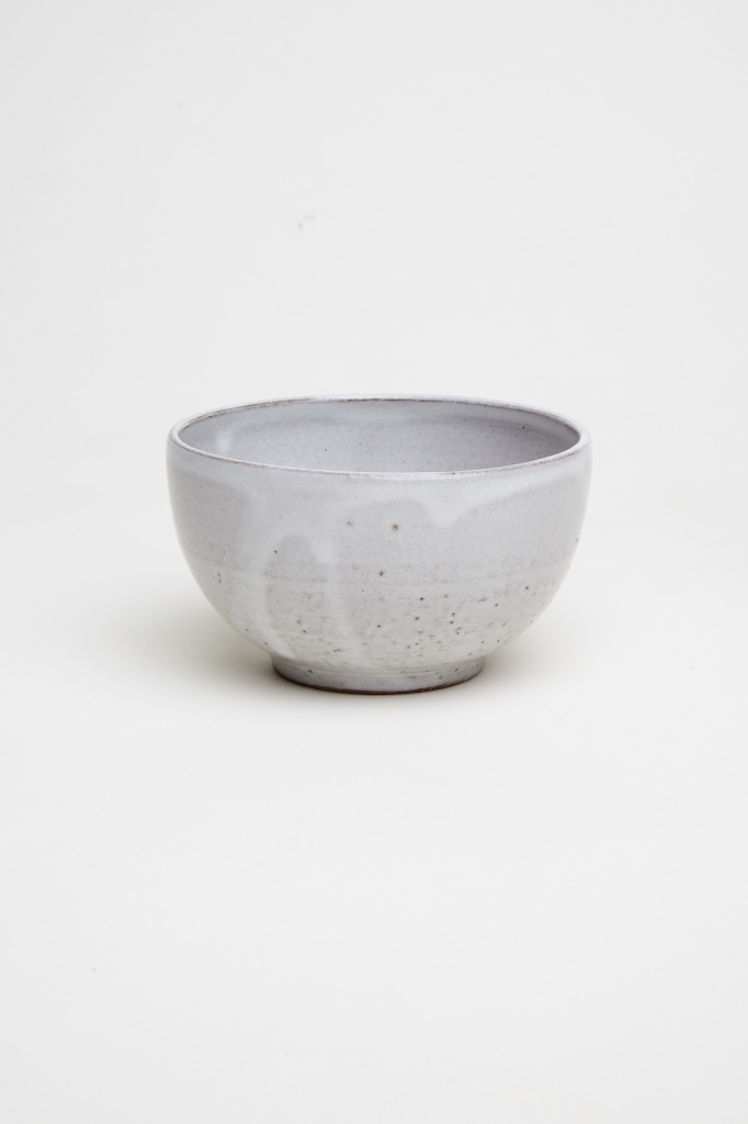Alice Cheng Studio Medium Brown White Glazed Bowl