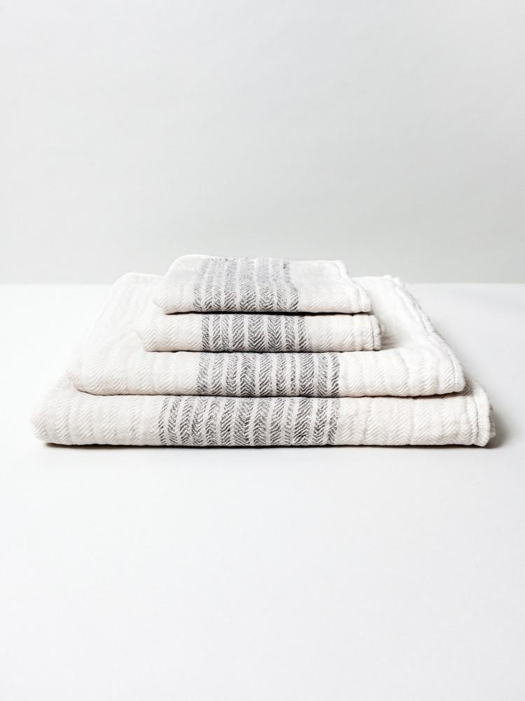 Morihata Flax Line Organic Beige Hand Towel