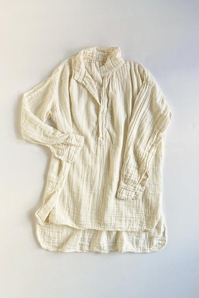 CP Shades Petra Cotton Gauze Tunic Ivory - Size XS