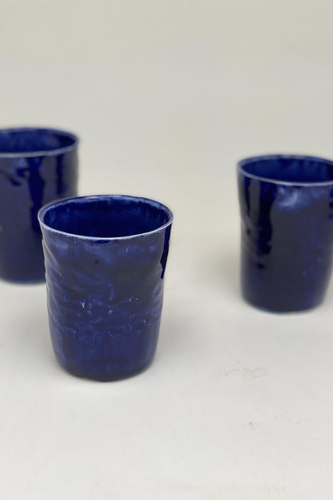 Alice Cheng Studio Porcelain Cobalt Tumblers