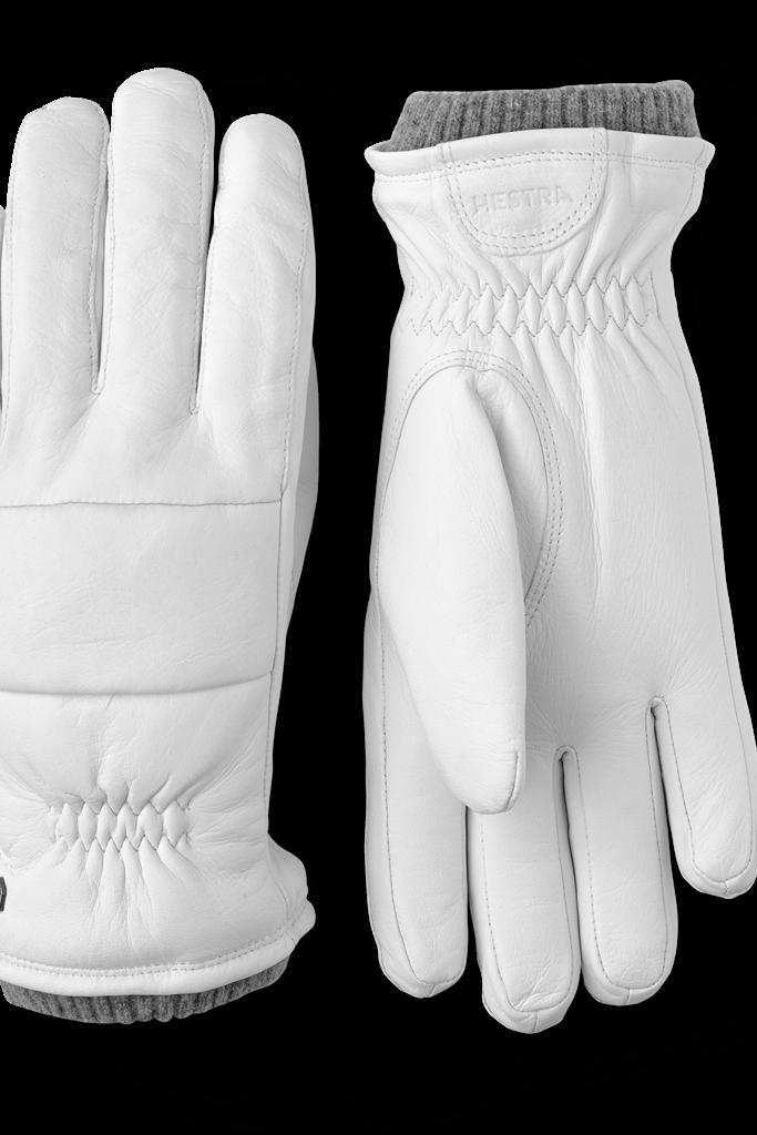Hestra Torun Gloves in White Leather