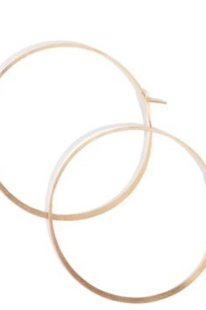 "Melissa Joy Manning Extra Large Hoop 1.75"" Diameter - 14k YG"