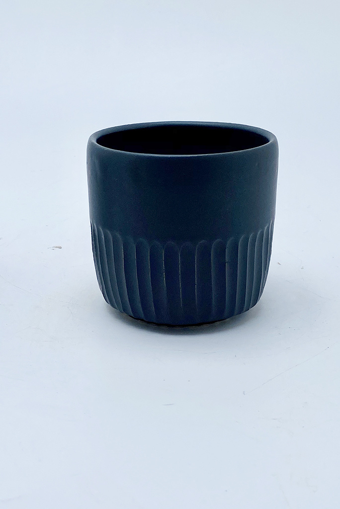 Alice Cheng Studio Black Carved Tumblers