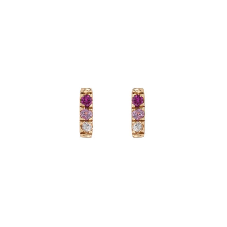 Jennie Kwon Pink Sapphire Equilibrium 14KT Gold Studs