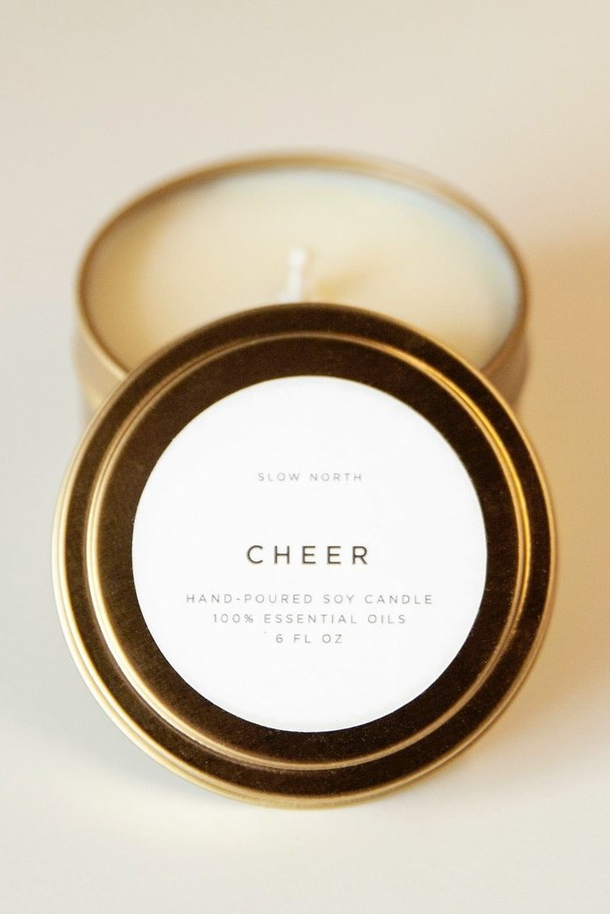 Slow North Cheer Tin Candle 6oz