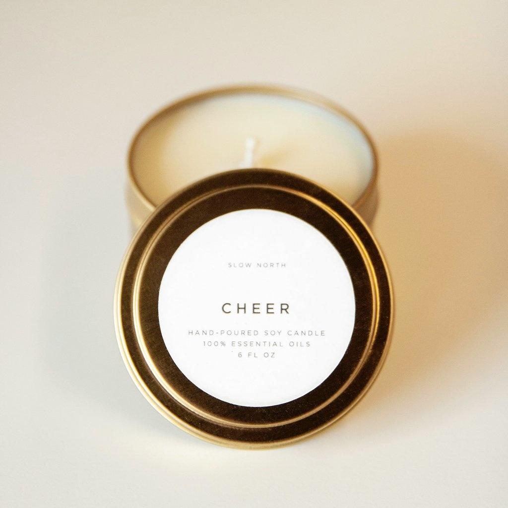 Slow North Cheer Tin Candle 6oz