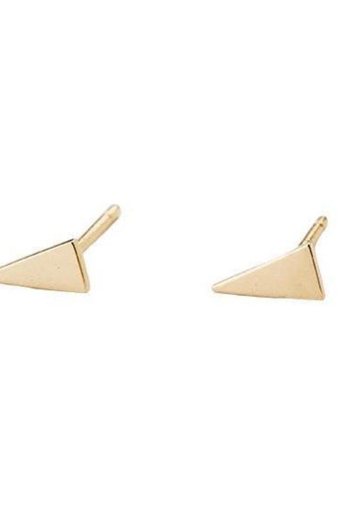 Jennie Kwon Triangle Shape 14KT Gold Studs Pair