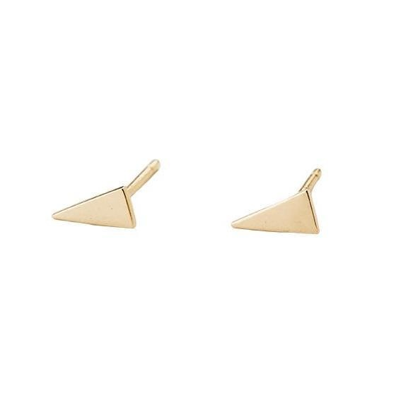 Jennie Kwon Triangle Shape 14KT Gold Studs Pair