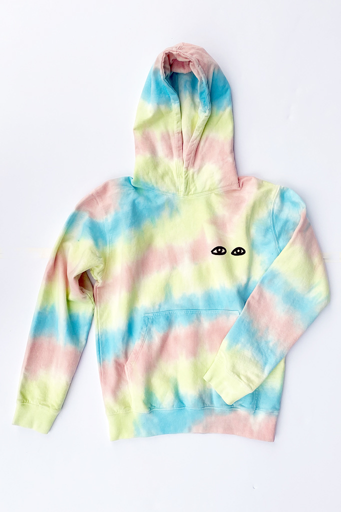 Clare V Oversize Hoodie Tie Dyed - Size XS
