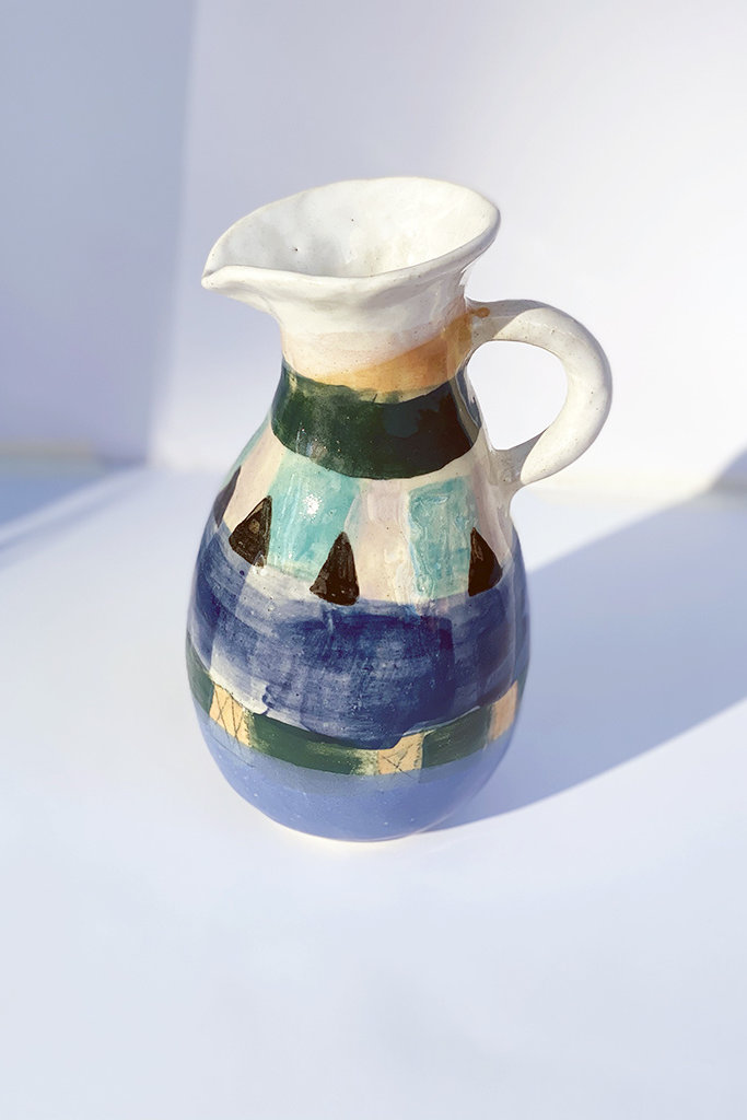Alice Cheng Studio Painted Triangle Pitcher