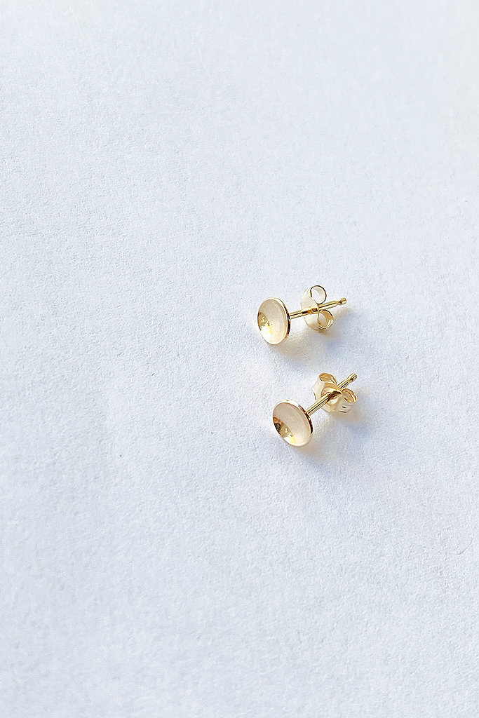 Kristen Elspeth 14kt Basin Studs - Two Sizes