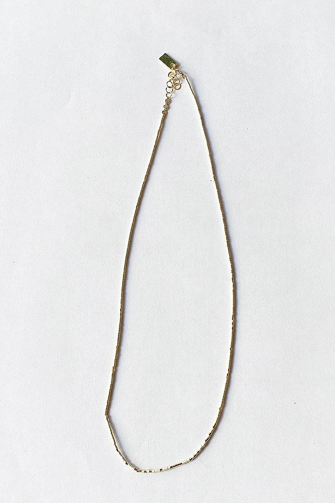 Iwona Ludyga Milk & Honey Spaced In Bone GF Glass Beads Necklace