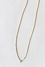 Iwona Ludyga Milk & Honey Spike Necklace GF Glass Beads