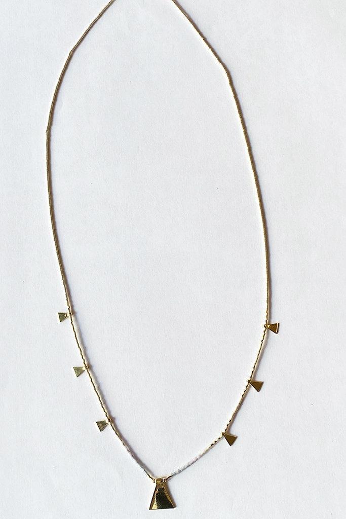 Iwona Ludyga Storm Pyramid Multi Fog Necklace GF Glass Beads