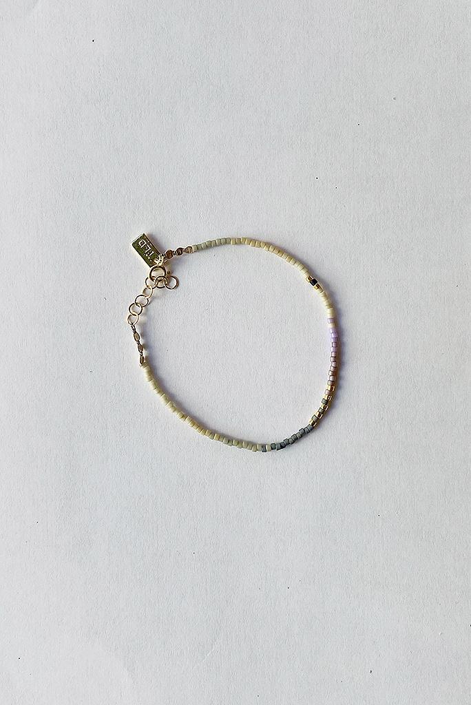 Iwona Ludyga Storm Bracelet Multi Lilac GF Glass Beads