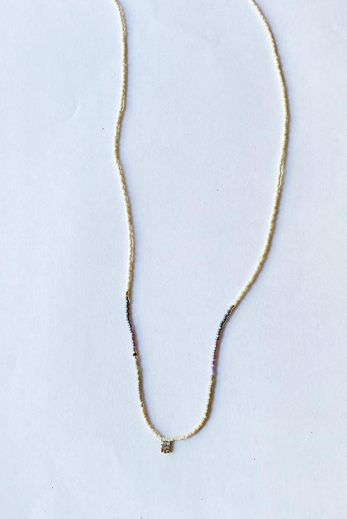 Iwona Ludyga Storm Necklace Fog GF Glass Beads