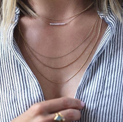 "Leah Alexandra Ballayer Necklace 18"" GF"