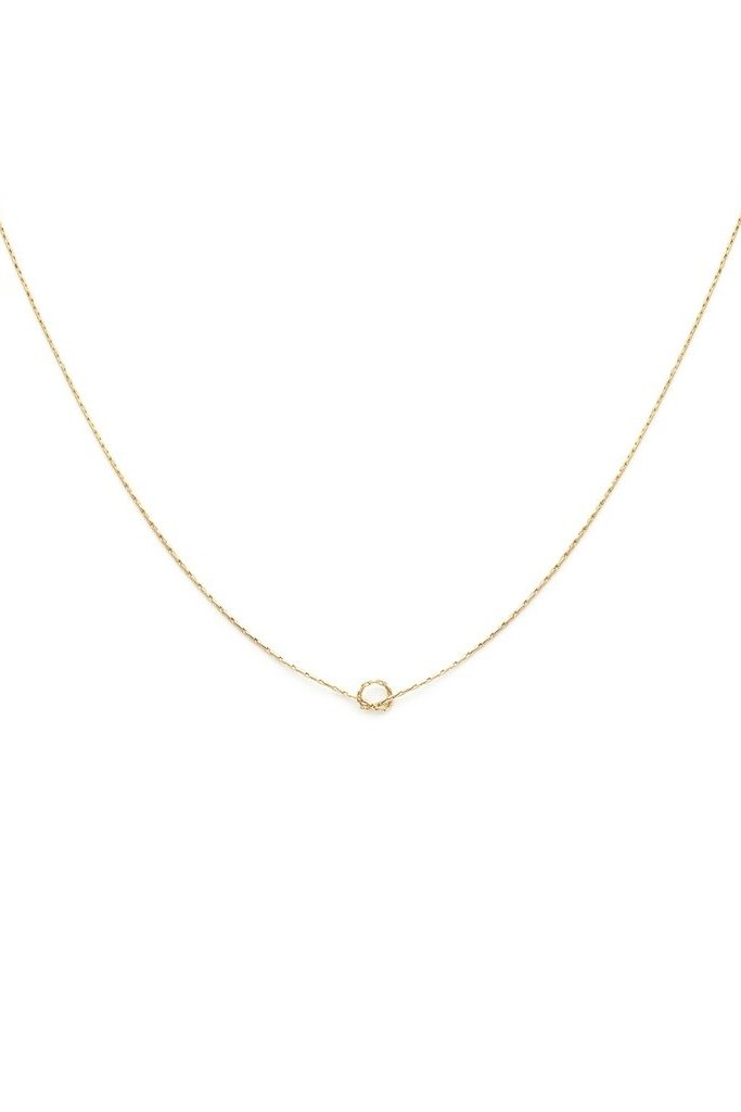 Leah Alexandra Knot Necklace Gold Filled