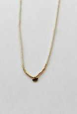 Iwona Ludyga Milk & Honey Tiny Half Moon 10KT Necklace