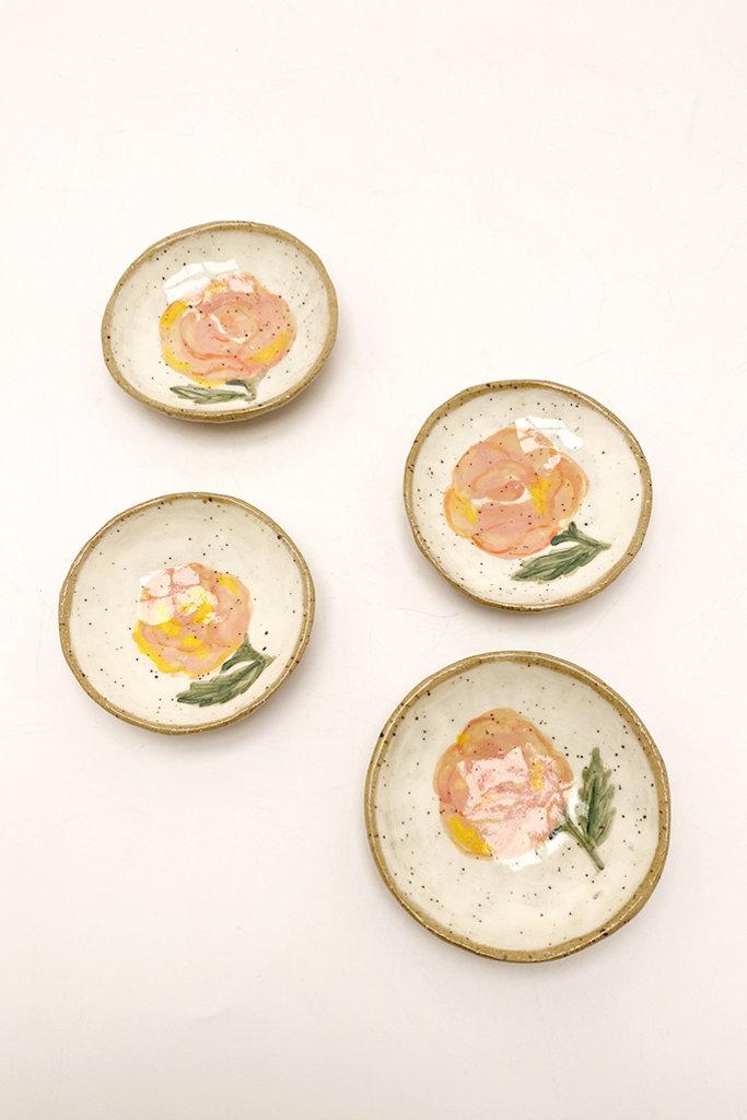 Alice Cheng Studio Ceramic Pink Rose Little Dish